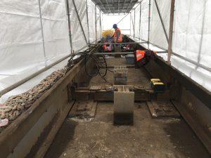 Untersuchungen mit Höhenzugang - hier: Untersuchungen zur Zustandsbewertung einer Stahlbetonfassade